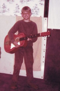 Dean Hall's first guitar.